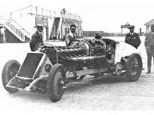 BABS Parry Thomas in Brooklands paddock 1926